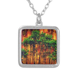 Woods Square Pendant Necklace