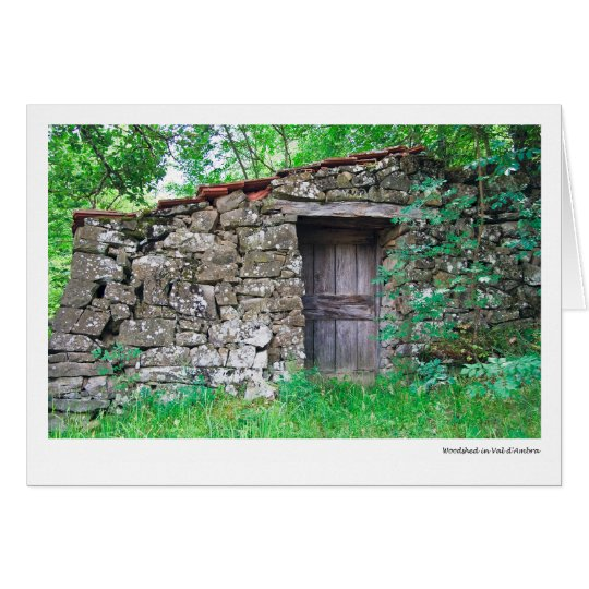 Woodshed in Val d'Ambra Card