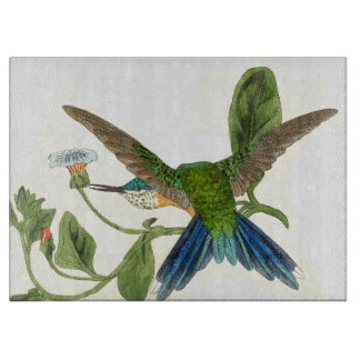Woodstar Hummingbird Bird Flowers Cutting Board