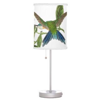 Woodstar Hummingbird Birds Wildlife Flowers Lamp