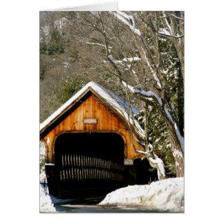 Woodstock, pont couvert de VT en hiver Carte De Vœux