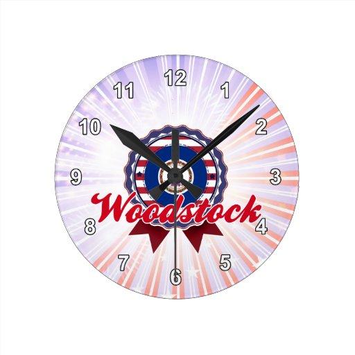 Woodstock, VA Horloge Murale