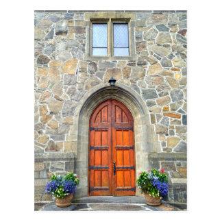 Woodstock, Vermont, portes d'église Cartes Postales