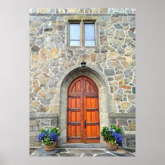Woodstock, Vermont, portes d'église Poster