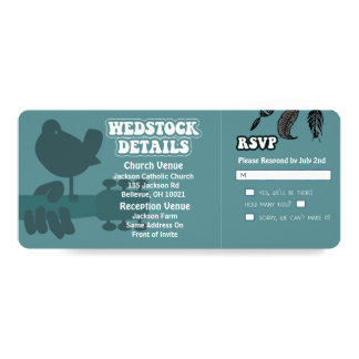 Woodstock-Wedstock Wedding Invitations