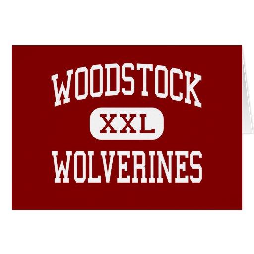 Woodstock - Wolverines - hauts - Woodstock la Géor Cartes De Vœux