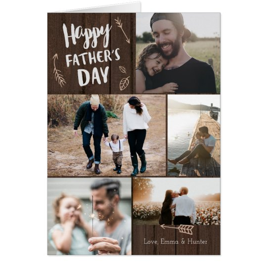 Woodsy 5 Photo Father's Day Card