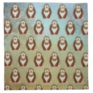 Woodsy Bigfoot/ Squatch Napkin