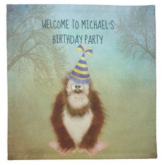 Woodsy Bigfoot/ Squatch Personalized Napkin