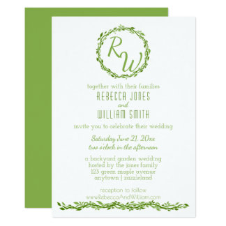 Woodsy Elegance | Wedding Vine 5 x 7 Greenery Card