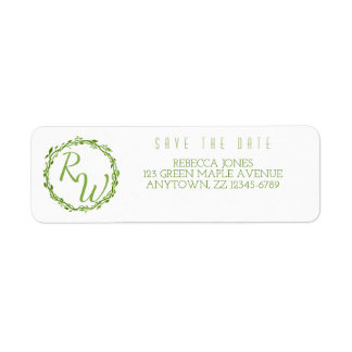 Woodsy Elegance | Wedding Vine Classic Nature Return Address Label