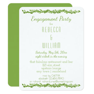 Woodsy Elegance | Wedding Vine Engagement Party Card