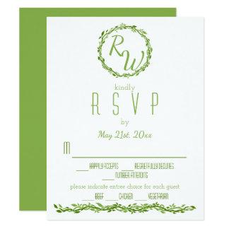 Woodsy Elegance | Wedding Vine Greenery RSVP Card