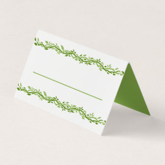 Woodsy Elegance | Wedding Vine Love Green Place Card