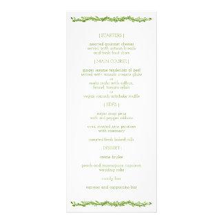 Woodsy Elegance | Wedding Vine Reception Menu Custom Rack Cards