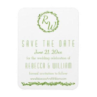 Woodsy Elegance | Wedding Vine | Save The Date Rectangular Photo Magnet