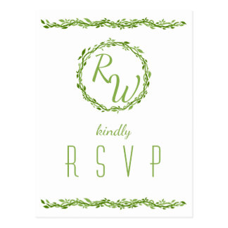 Woodsy Elegance | Wedding Vine Simple RSVP Postcard