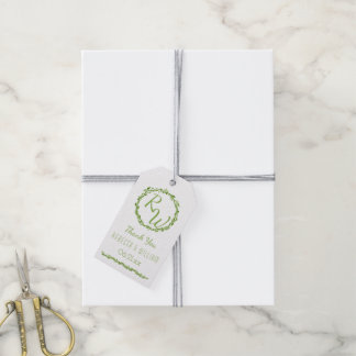 Woodsy Elegance | Wedding Vine Thank You Green Pack Of Gift Tags