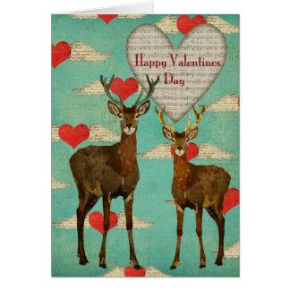 Woodsy Elk Valentine Card