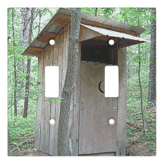 WOODSY OUTHOUSE WALLL SWITCH LIGHT SWITCH COVER