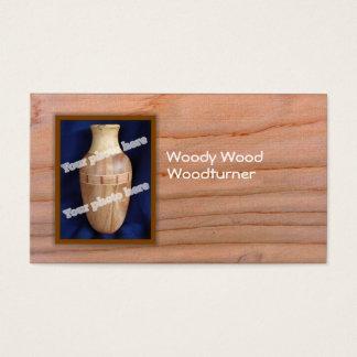 Woodturner Custom Photo Business Card Template