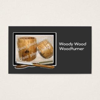 Woodturner Tools Custom Photo Black White Template Business Card