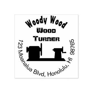 Woodturning Rubber Stamp Custom Woodturner Address