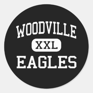 Woodville - Eagles - High School - Woodville Texas Classic Round Sticker