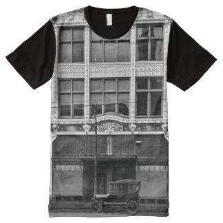 Woodward Ave Detroit with Sanders All-Over-Print T-Shirt