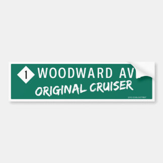 "Woodward Ave ""Original Cruiser"" Bumper Sticker"