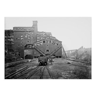 Woodward Coal Breaker Kingston Pa. Poster
