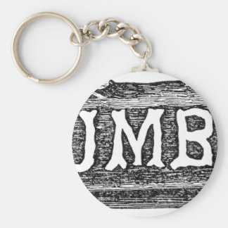 Woodworker Lumber Log Graphic Keychain