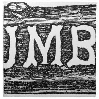 Woodworker Lumber Log Graphic Napkin