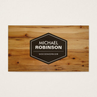 Woodworker - Modern Wood Grain Look Business Card