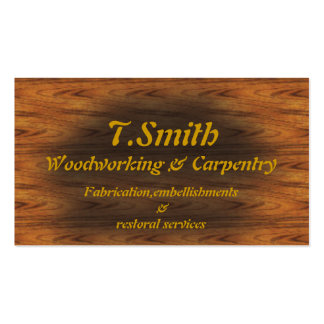 woodworking pack of standard business cards