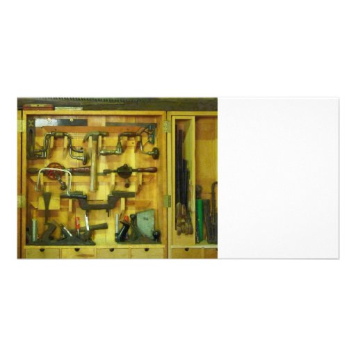 Woodworking Tools Photo Card Template