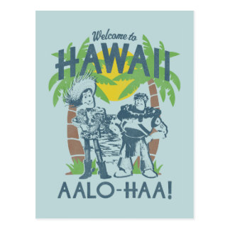 Woody and Buzz - Welcome To Hawaii Postcard