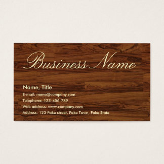 Woody Business Card