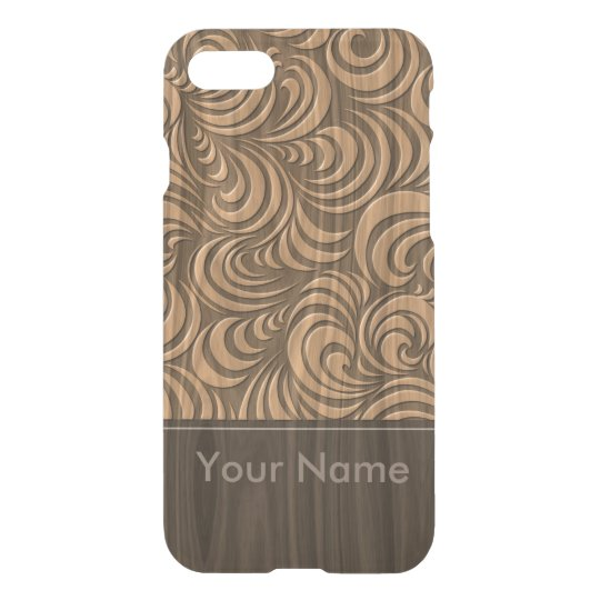 < Woody >Eddying current grain pitch design iPhone 7 Case