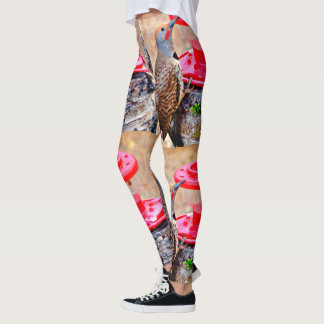 Woody on Hummer Feeder Women's Leggings