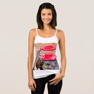 Woody on Hummer Feeder Women's Spaghetti Strap Top