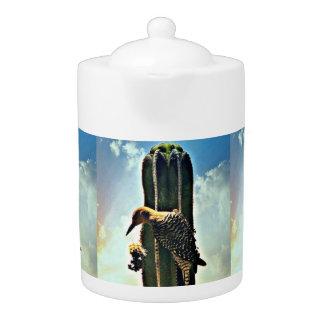Woody on Saguaro Tea Pot