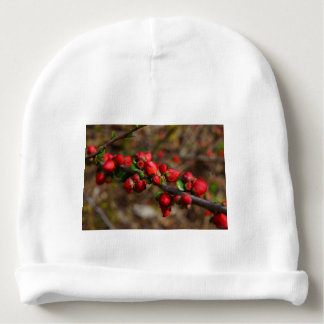 Woody Red Blooms Baby Beanie