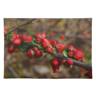 Woody Red Blooms Placemat