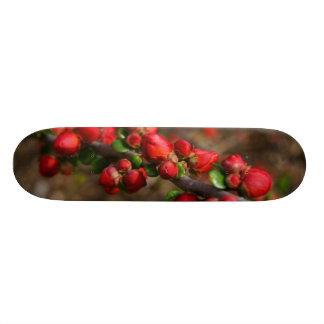 Woody Red Blooms Skateboard