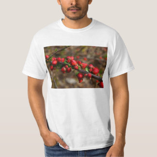 Woody Red Blooms T-Shirt