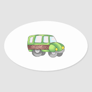 WOODY SUV VEHICLE OVAL STICKERS