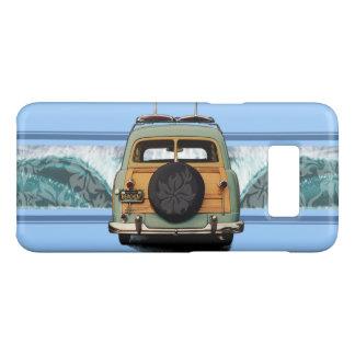 Woody Wave Hawaiian Surf Illustration- Blue Case-Mate Samsung Galaxy S8 Case