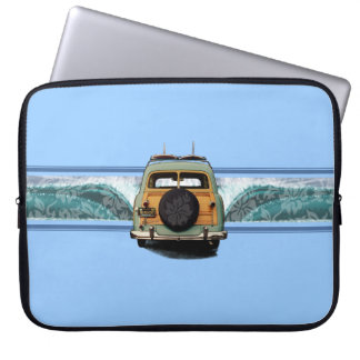 Woody Wave Surfer Neoprene Wetsuit Laptop Sleeve