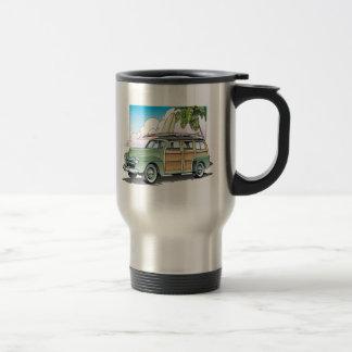 Woody with Surf Board Travel Mug